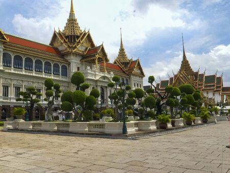 grounds of the grand palace in bangkok Stock Photo