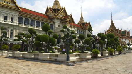 the grand palace and gardens in bangkok Stock Photo