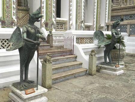 tantima bird at the emerad buddha temple, bangkok