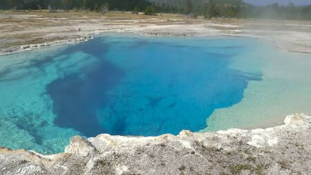 sapphire spring in yellowstone national park, usa 写真素材