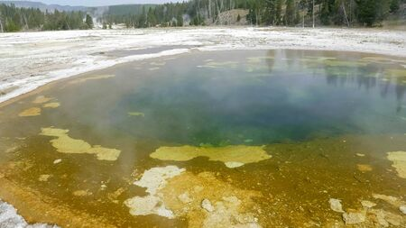 colorful beauty pool in yellowstone national park 写真素材