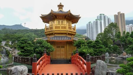 shot of the pavillion of absolute perfection in nan lian garden