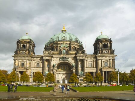 BERLIN, GERMANY OCTOBER, 6, 2017: berlin cathedral exterior wide in germany
