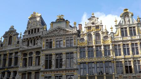 BRUSSELS, BELGIUM - OCTOBER, 13, 2017: the guild houses at grand place in brussels