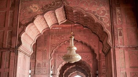 a jama masjid chandelier in the old city of delhi