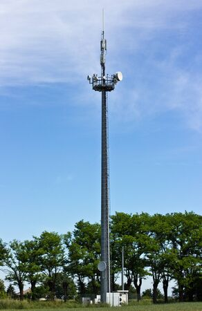 telephone repeater in a field photo