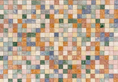 ceramics: textura formada por tejas de diversos colores