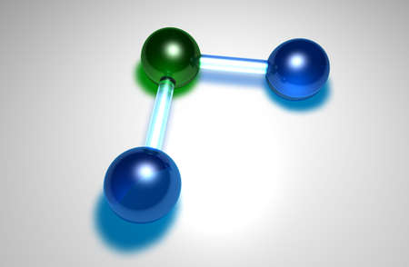 nodal: Three glasslike balls connected together