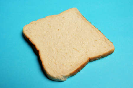 Single slice of white bread Stock Photo - 520154