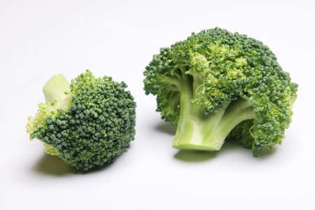 brocolli: Brocolli on a white background Stock Photo