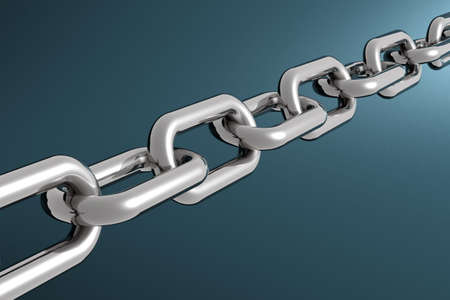 conjoin: Simple shiny 3d Metallic chain Stock Photo