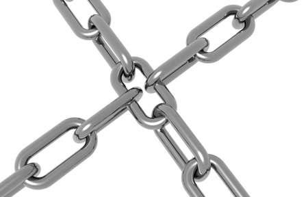 to incorporate: Crome chain crossing over eachother