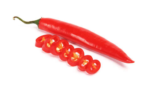 tex mex: Red hot chilli sliced up