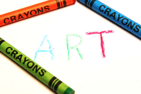 multiplicity: Colored crayons with the word art