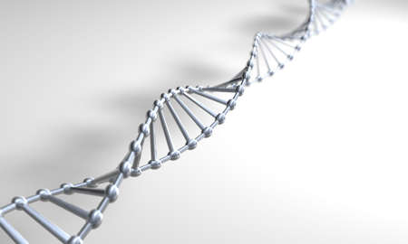 researchs: Silver DNA on a white surface
