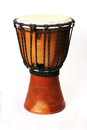 bongo drum: Bongo drum on a white background Stock Photo