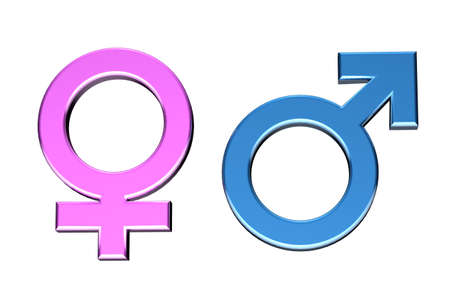 female sexuality: Blue and pink Malefemale symbols