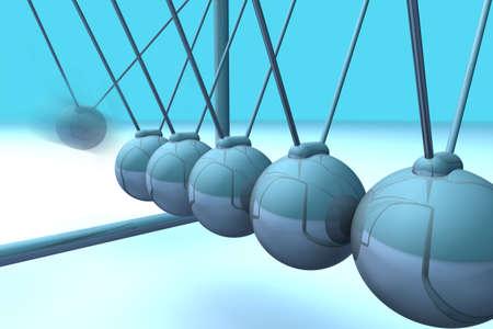 absorb: Blue 3d detailed closeup of a pendulum
