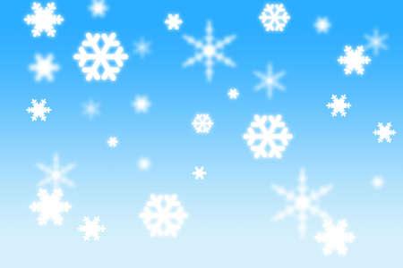 3d copos de nieve sobre fondo azul  Foto de archivo - 520777