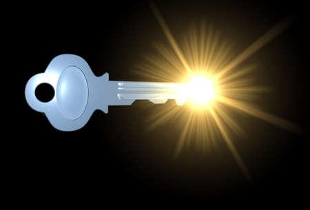 llave de sol: Key tocar plena luz del d�a  Foto de archivo