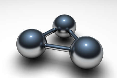 nodal: Metallic atom on a perfect white background Stock Photo