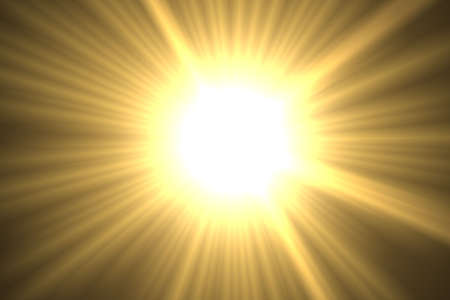 beaming: Beaming bright yellow sun with rays
