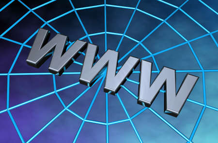 The letters www on a 3d web