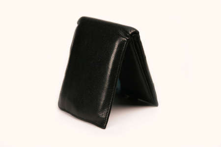 Black wallet isolated on a white background photo
