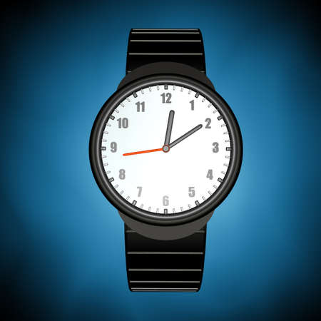 timekeeper: Black Watch on a blue background
