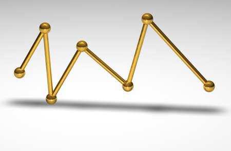 wellenl�nge: Goldene Wellenl�nge auf einer wei�en Oberfl�che Lizenzfreie Bilder