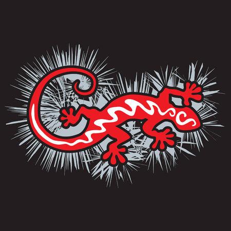 Red gecko lizard