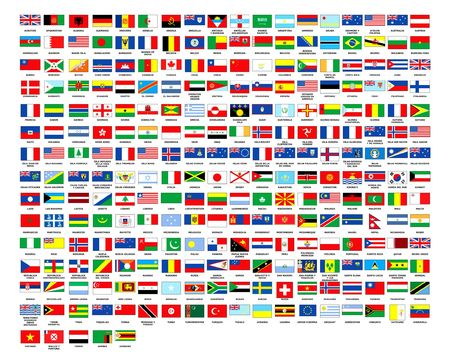 257 World flags alphabetically order white background