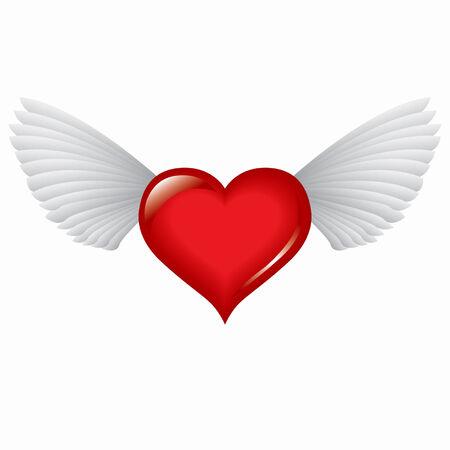 赤いハートの翼