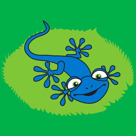 Blue smiling lizard