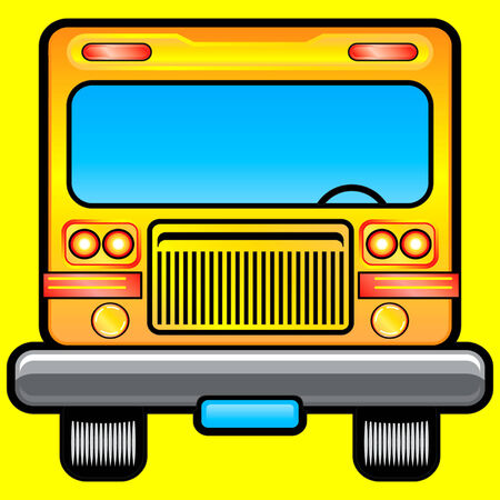 scholar: Front view of scholar bus