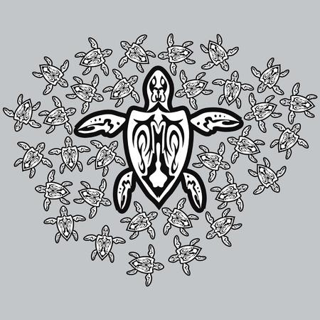 Tribal moeder schildpad