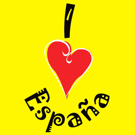 I love Spain logo Vector