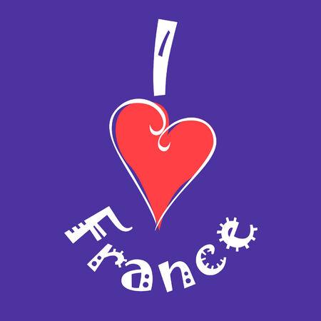 I love France logo Vector