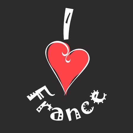 I love France logo Ilustrace