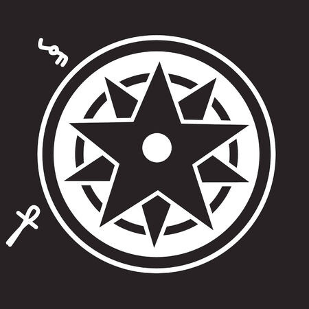 UFO crop circle design Illustration
