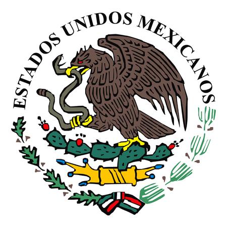 bandera de mexico: Logo bandera de M�xico  Vectores