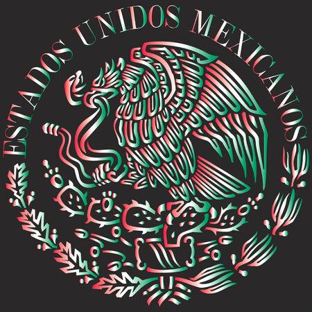 mexican flag: Logo bandiera messicana Vettoriali