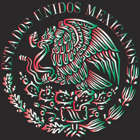 flag: Mexican flag logo