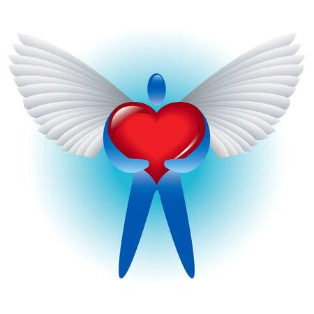 Engel van de liefde Stock Illustratie