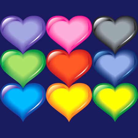 colorfully: Colorfully hearts