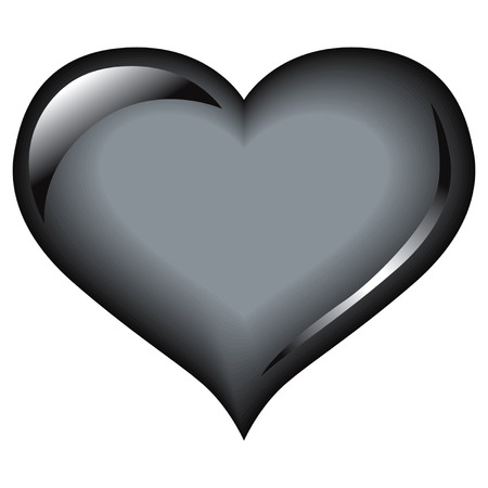 simple logo: Black heart