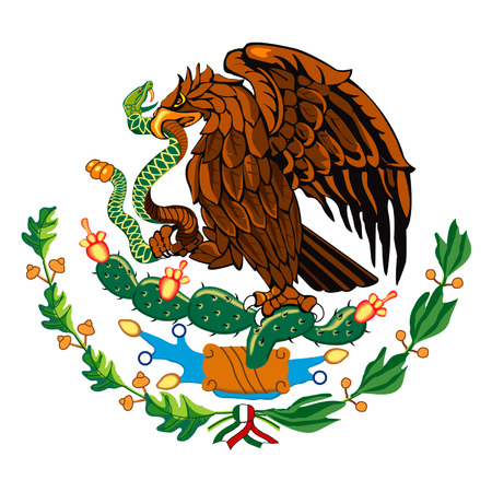 Mexicaanse vlag symbool  Stock Illustratie