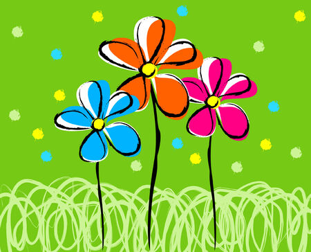 polen: Happy illustration of tree flowers