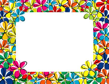 Bloemen voorjaar frame