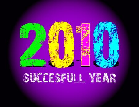 Grunge 2010 new year logo photo
